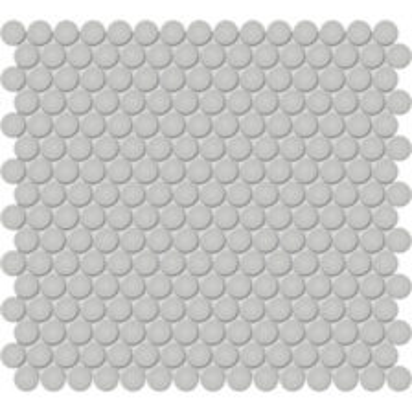 "Loft Grey 3/4"" Penny Round Mosaic"