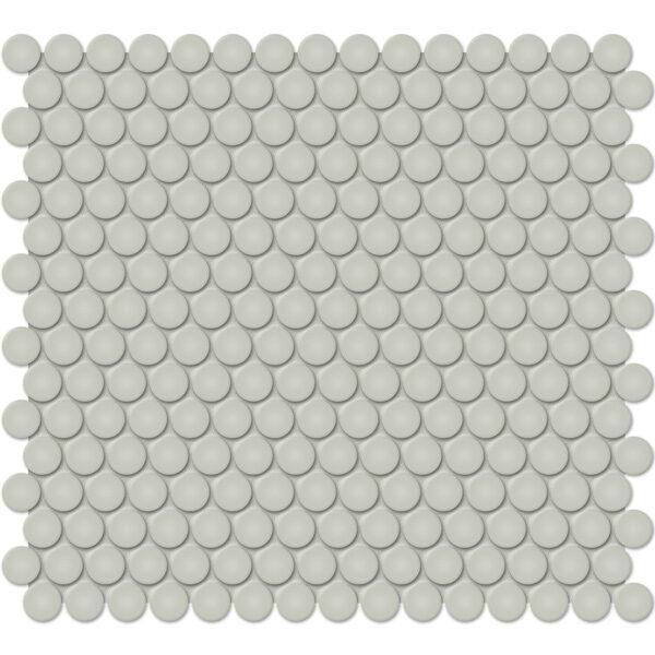 "Soft Sage 3/4"" Penny Round Mosaic"