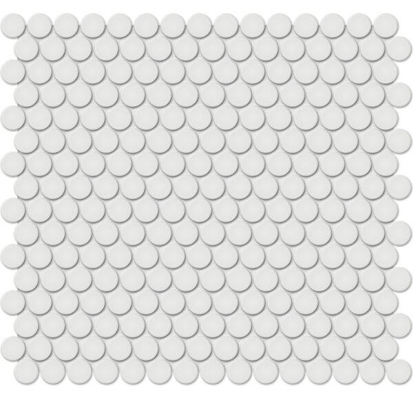 "Vintage Grey 3/4"" Penny Round Mosaic"