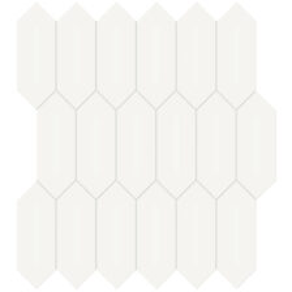 "Canvas White 2"" x 5"" Picket Mosaic"