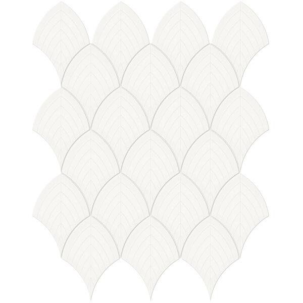 Canvas White Scallop Mosaic