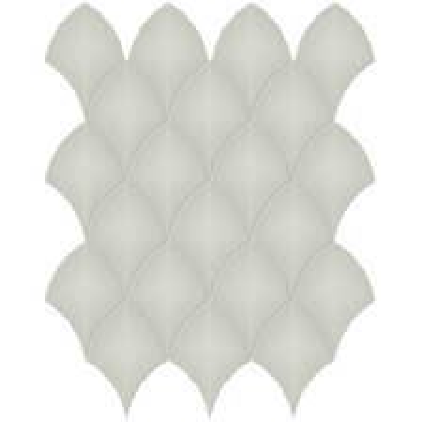 Soft Sage Scallop Mosaic