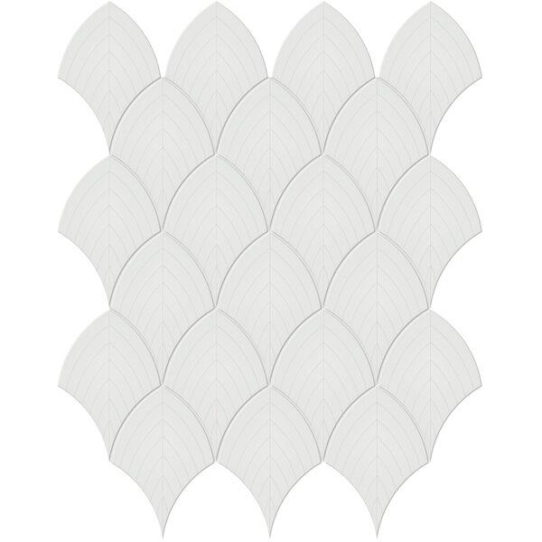 Vintage Grey Scallop Mosaic
