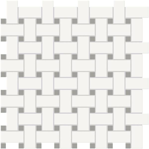 Canvas w/ Cement Basketweave Mosaic
