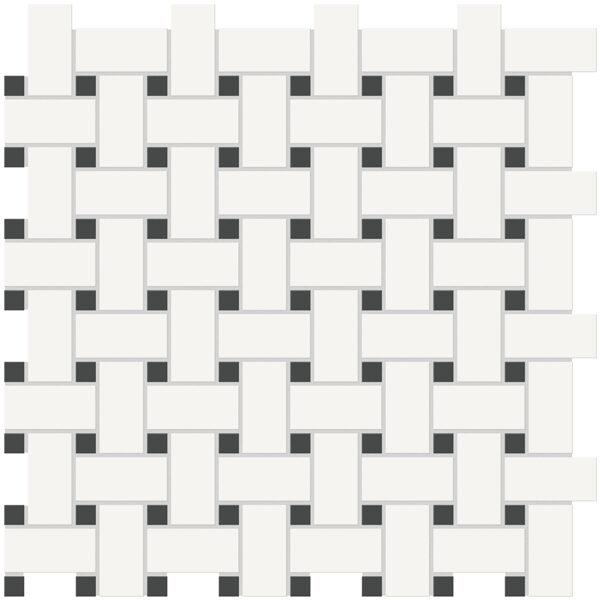 Canvas w/ Retro Basketweave Mosaic