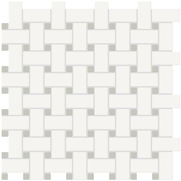 Canvas w/ Soft Sage Basketweave Mosaic