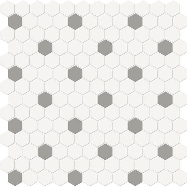 Canvas w/ Cement Hexagon Mosaic