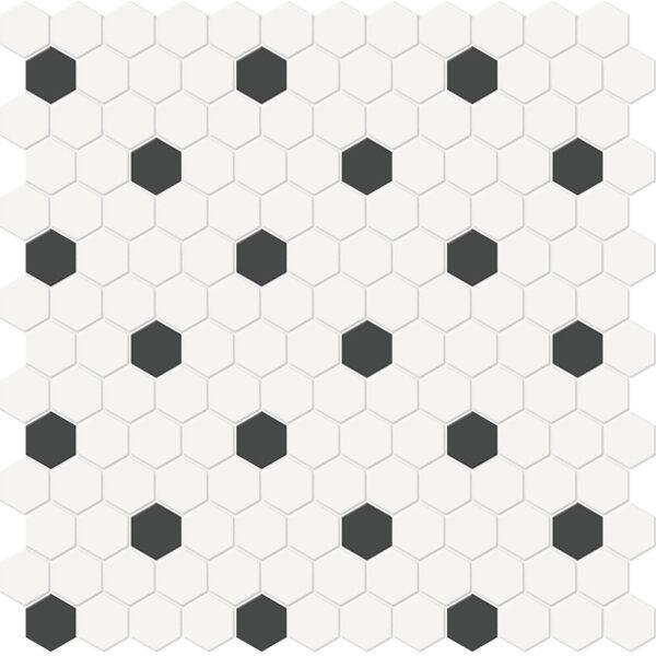 Canvas w/ Retro Hexagon Mosaic