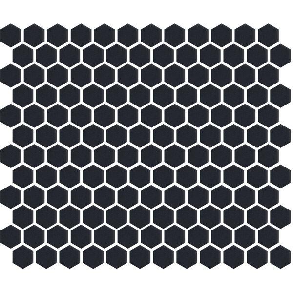 """Charcoal Gloss 1"""" Hexagon"""
