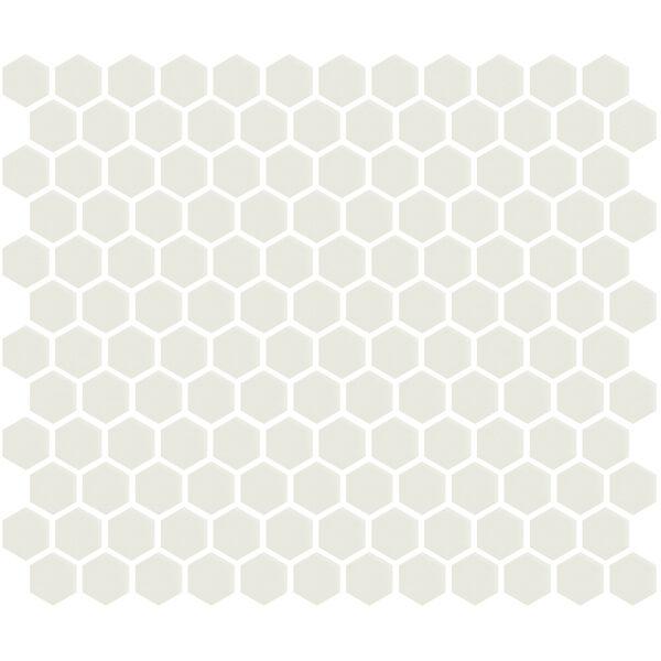 """White Gloss 1"""" Hexagon"""