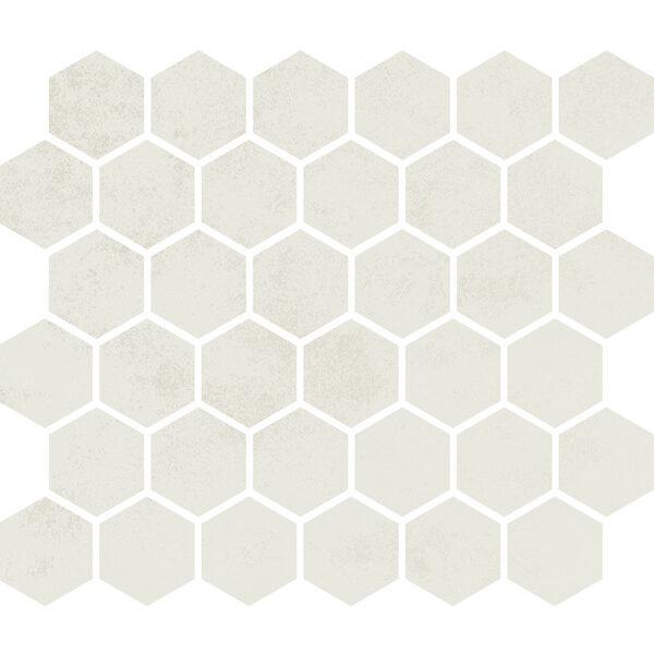 "White Matte 2"" Hexagon"
