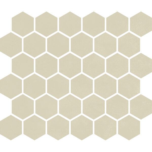 """Biscuit Matte 2"""" Hexagon"""