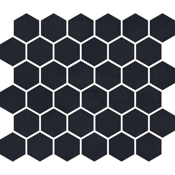 """Charcoal Matte 2"""" Hexagon"""