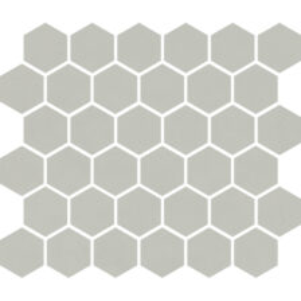"""Gray Matte 2"""" Hexagon"""