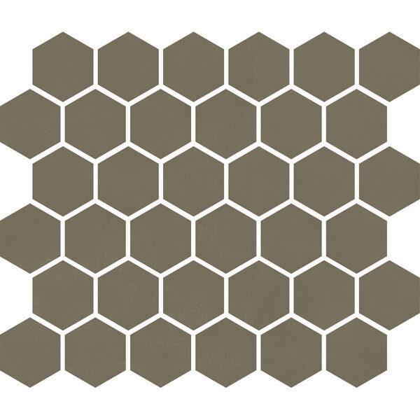 "Khaki Matte 2"" Hexagon"