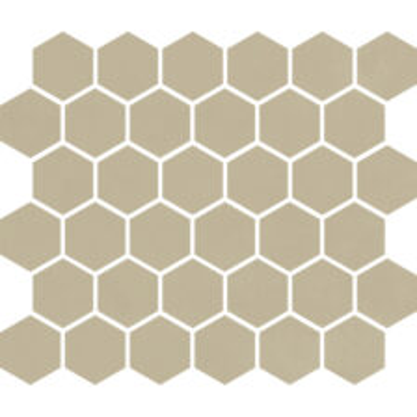 """Sand Matte 2"""" Hexagon"""